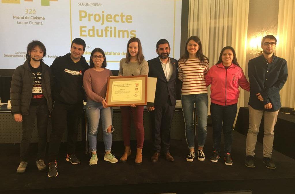 El projecte APS EduFilms, guardonat als Premis Civisme 2018